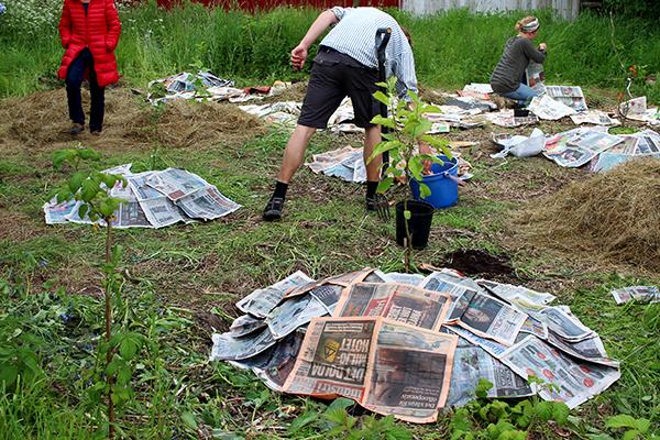 Tidningar som täckmaterial är nog okej att använda även i framtiden.
